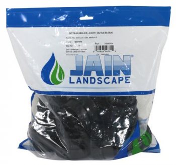 JAIN Irrigation Octa-Bubbler 6 GPH Per Outlet - Black Medium Flow Bubbler (Bag of 10)