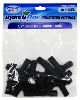 Hydro Flow Premium Barbed Tee 1/2 in (Bag of 10)