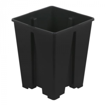 Gro Pro Anti-Spiraling Black Square Pot 5 x 5 x 8 in (5250/Plt)