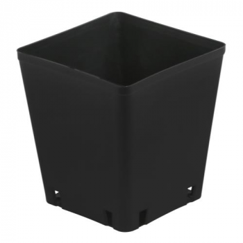 Gro Pro Black Square Pot 5 x 5 x 5.25 in (8400/Plt)