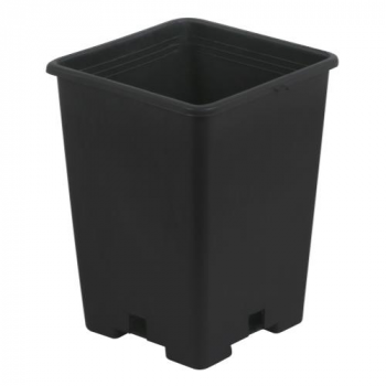 Gro Pro Black Square Pot 5 x 5 x 7 in (6000/Plt)