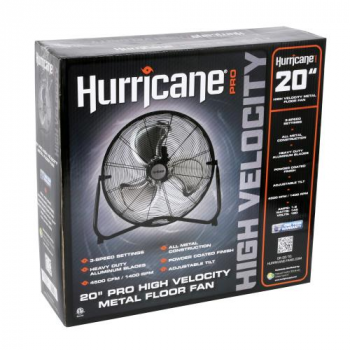 Hurricane Pro High Velocity Metal Floor Fan 20 in