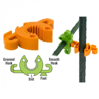 Grower's Edge C-Bite Stake Coupler & Tie-Anchor #10 (Bag of 12)