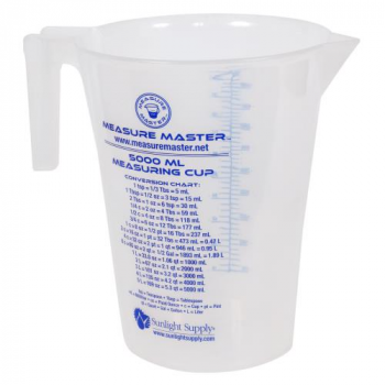 Measure Master Graduated Round Container 160 oz / 5000 ml (10/Cs)