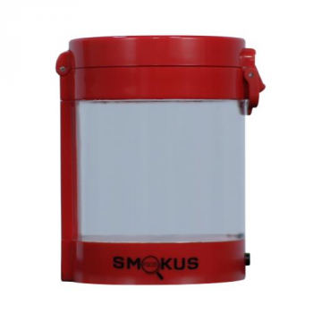 Smokus Focus Middleman Display Container w/ LED and Dual Magnification - Red (10/Cs)