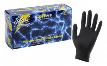 Black Lighting Powder Free Nitrile Gloves X-Large (100/Box)