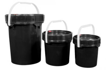 Harvest Keeper Odor Lock 12 Gal Black Bucket w/ Lid