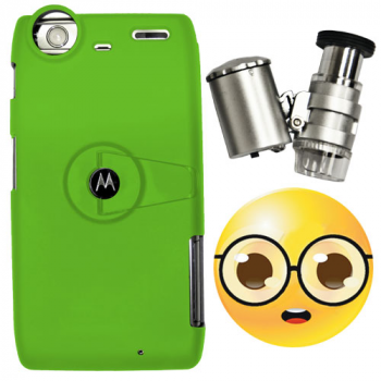 Droid Razr maxx Case + LED Binocular Microscope 60x -Coming Soon