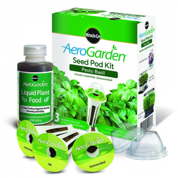 AeroGarden 3-Pod Pesto Basil Seed Kit