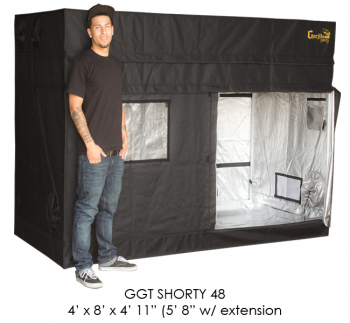 "4' x 8' Gorilla Grow Tent SHORTY w/ 9"" Extension Kit"