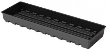 "12"" x 41"" Hydrofarm Black Tray"