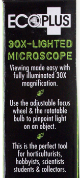 EcoPlus Illuminated 30X Microscope