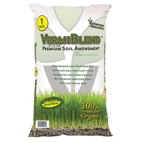 VERMIBLEND PREMIUM SOIL AMENDMENT 1 cu ft 40 lbs (55 SKID)