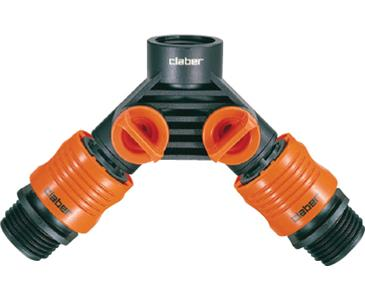 CLABER DOUBLE FAUCET CONNECTOR (5/CASE)