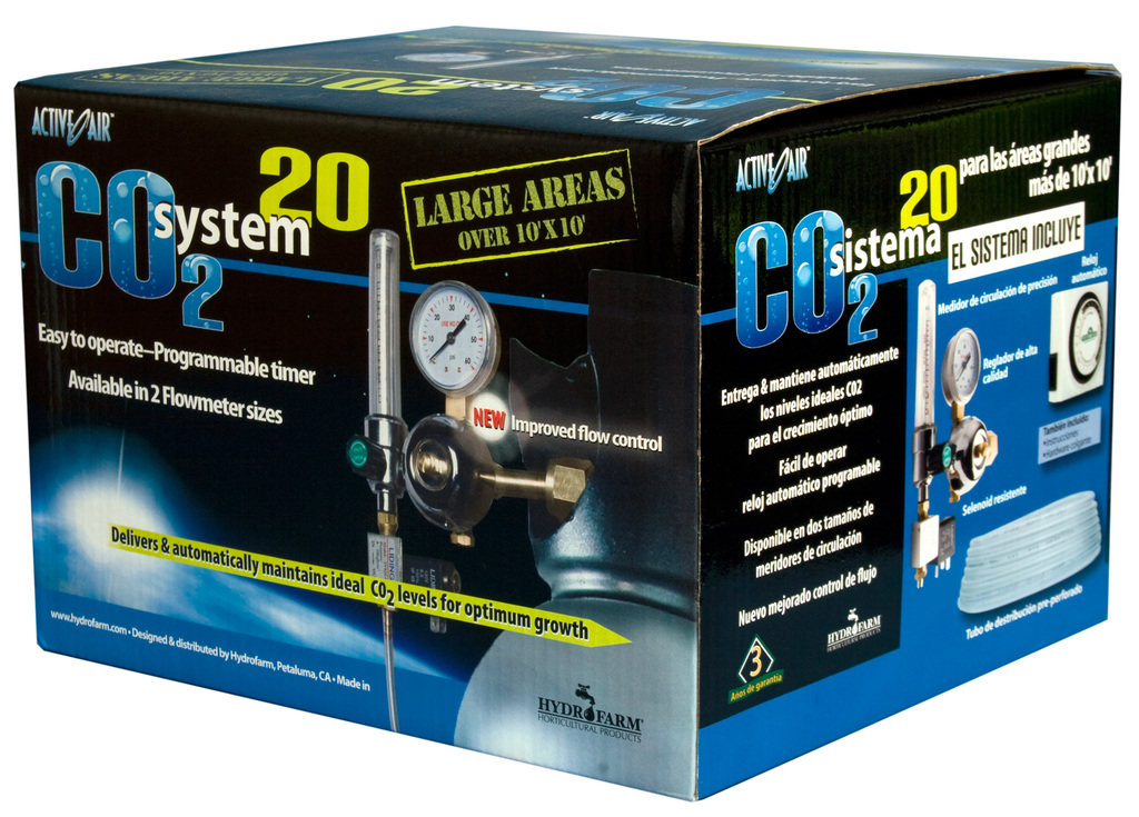 Hydrofarm CO2 System (2-20 cubic feet per hour) with Timer