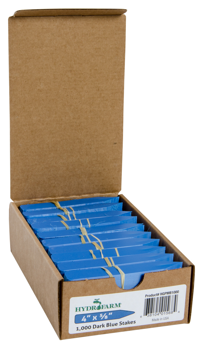 "Macore Co.     Plant Stake Labels Blue, 4"" x 5/8"", Case of 1000"